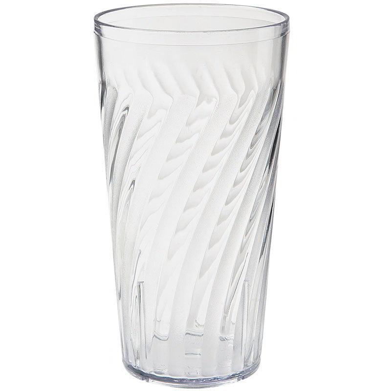 """GET 2221-1-CL 20-oz Tahiti Textured Beverage Tumbler, 6.5"""" Tall, Clear Plastic"""
