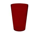 GET 2224-1-R 24-oz Tahiti Textured Beverage Plastic Tumbler, Red