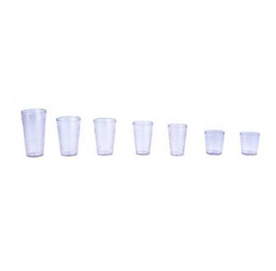GET 2224-CL 24 oz Beverage Tumbler, Textured, Tahiti, Clear