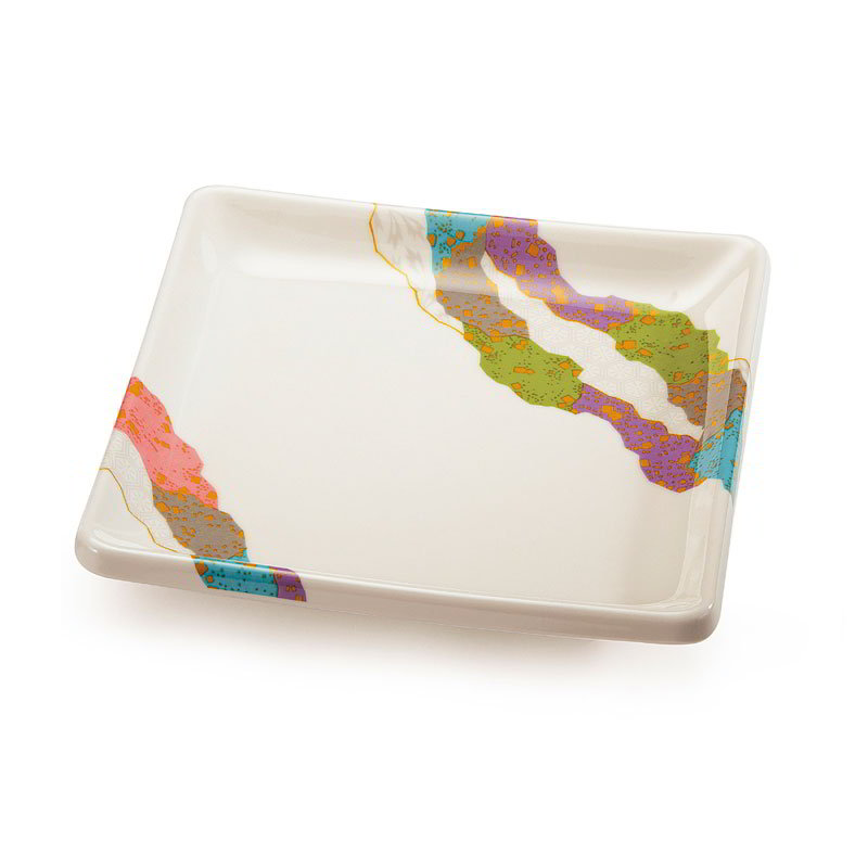 "GET 252-18-CO 7"" Square Contemporary Melamine Dish"