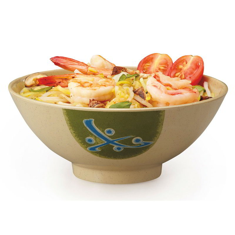 GET 257-TD 15-oz Soup/Rice Bowl, Melamine Japanese Traditional