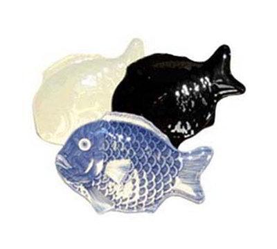 "GET 370-10-IV 10""x 7""Fish Platter, Melamine, Bone White"