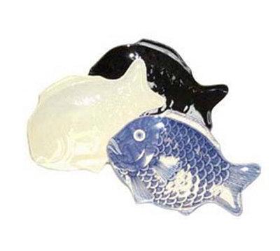 "GET 370-14-BK 14""x10""Fish Platter, Melamine, Black"