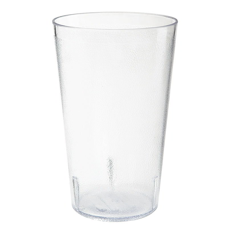 "GET 5032-1-4-CL 32-oz Stackable Tumbler, Textured, 4.13x6.5"", BPA Free, SAN, NSF, Clear Plastic"