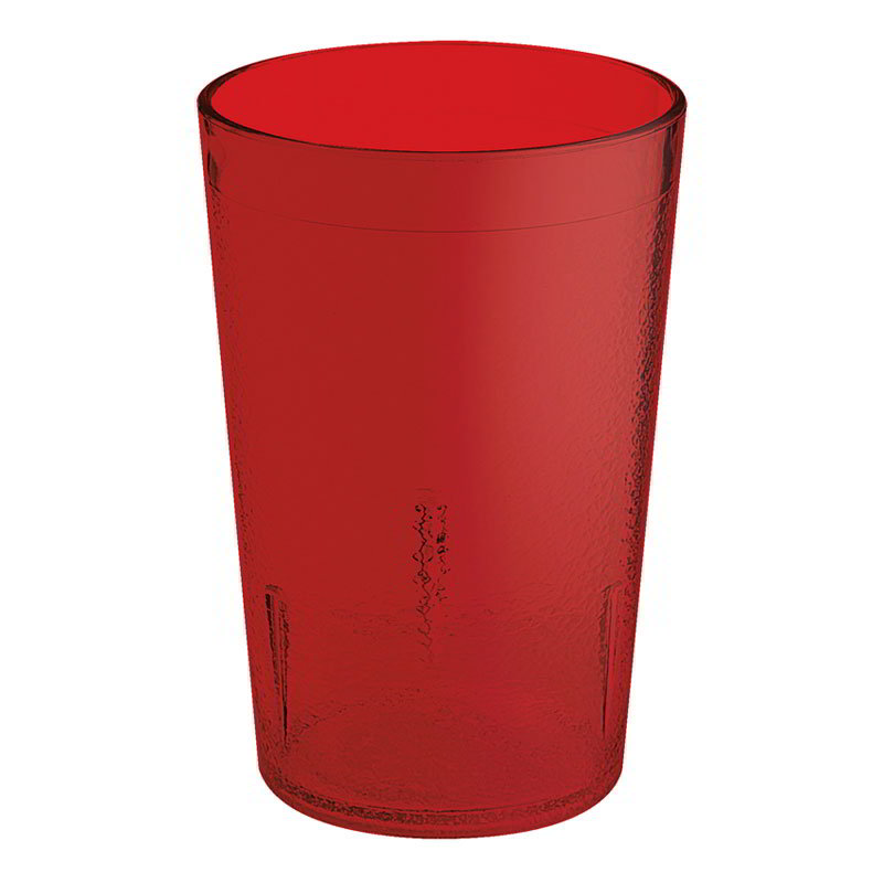GET 5032-1-4-R 32-oz Short Stackable Plastic Tumbler, Textured, Red