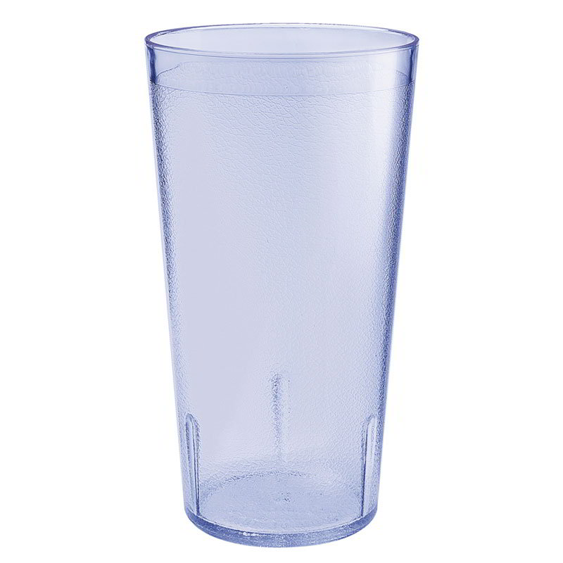 GET 5032-4-BLU 32-oz Short Plastic Tumbler, Textured, Stackable, Blue
