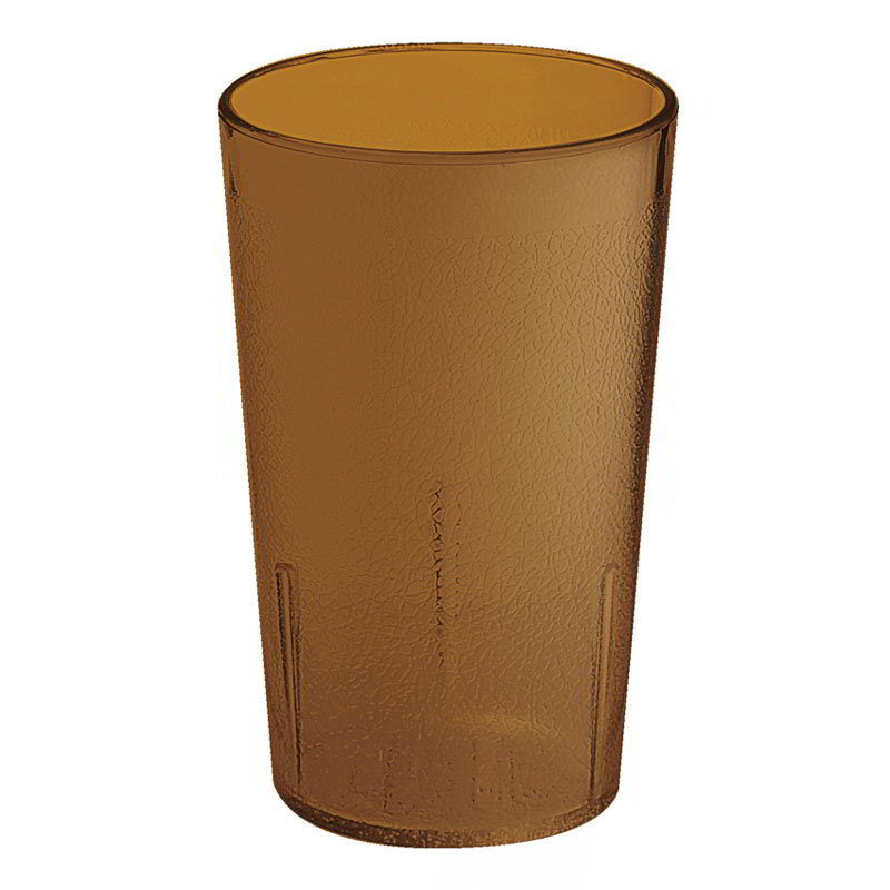 GET 6608-6-A 8-oz Plastic Tumbler, Textured, Stackable, Amber