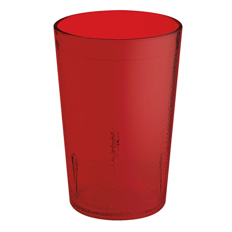 GET 6608-6-R 8-oz Plastic Tumbler, Textured, Stackable, Ruby