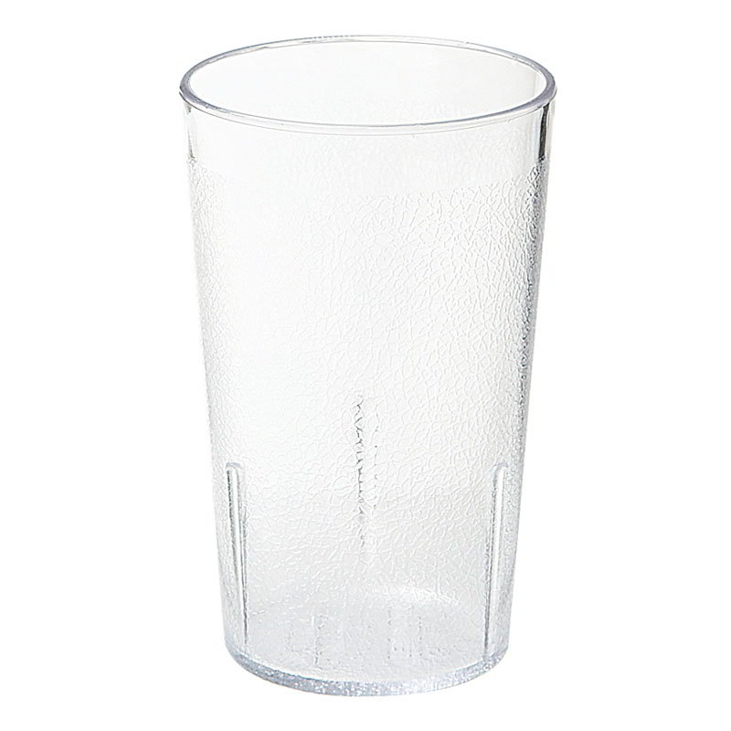 "GET 6610-6-CL Juice Tumbler, 10-oz, Textured, 3-3/8""Tall, SAN, Clear Plastic"