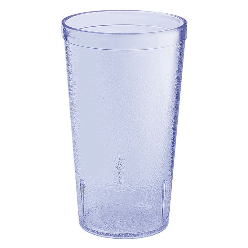 GET 6612-6-BLU 12-oz Plastic Tumbler, Textured, Stackable, Blue