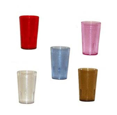 GET 6632-4-R 32-oz Tall Plastic Tumbler, Textured, Stackable, Ruby