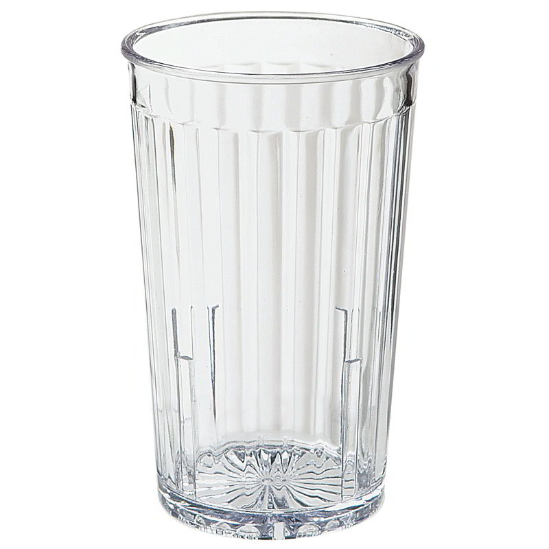 GET 8810-1-CL 10-oz Spectrum Textured Tumbler, Clear Plastic Plastic