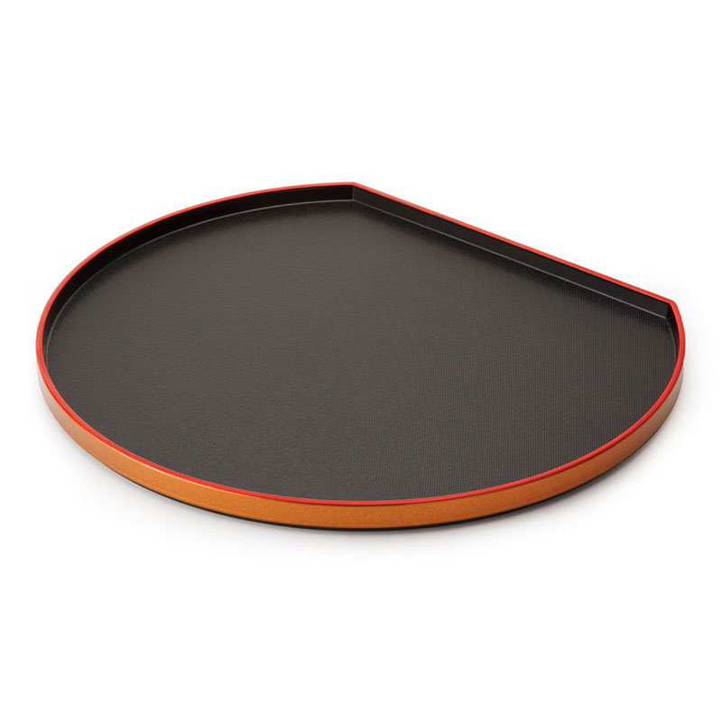 "GET 902-14-RB 14""Tray, Half Moon, Melamine, Japanese Series"