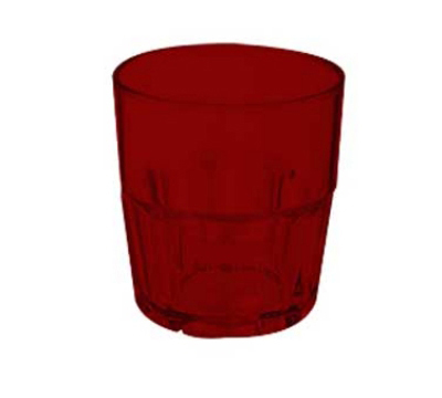 GET 9909-1-R 9-oz Bahama Rock Stacking Plastic Tumbler, Red