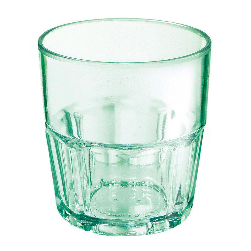 GET 9910-1-JA 10-oz Bahama Double Rock Stacking Plastic Tumbler, Jade