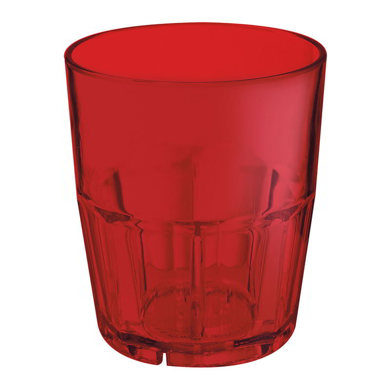 GET 9910-1-R 10-oz Bahama Double Rock Stacking Plastic Tumbler, Red