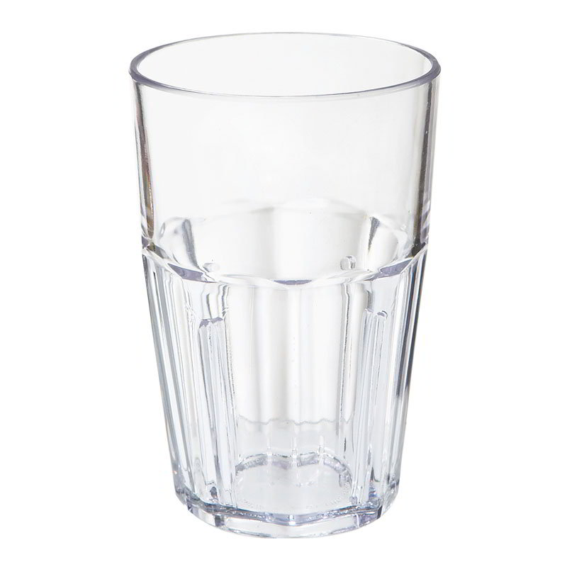 GET 9910-CL 10-oz Double Rock Tumbler, Bahama, Clear Plastic