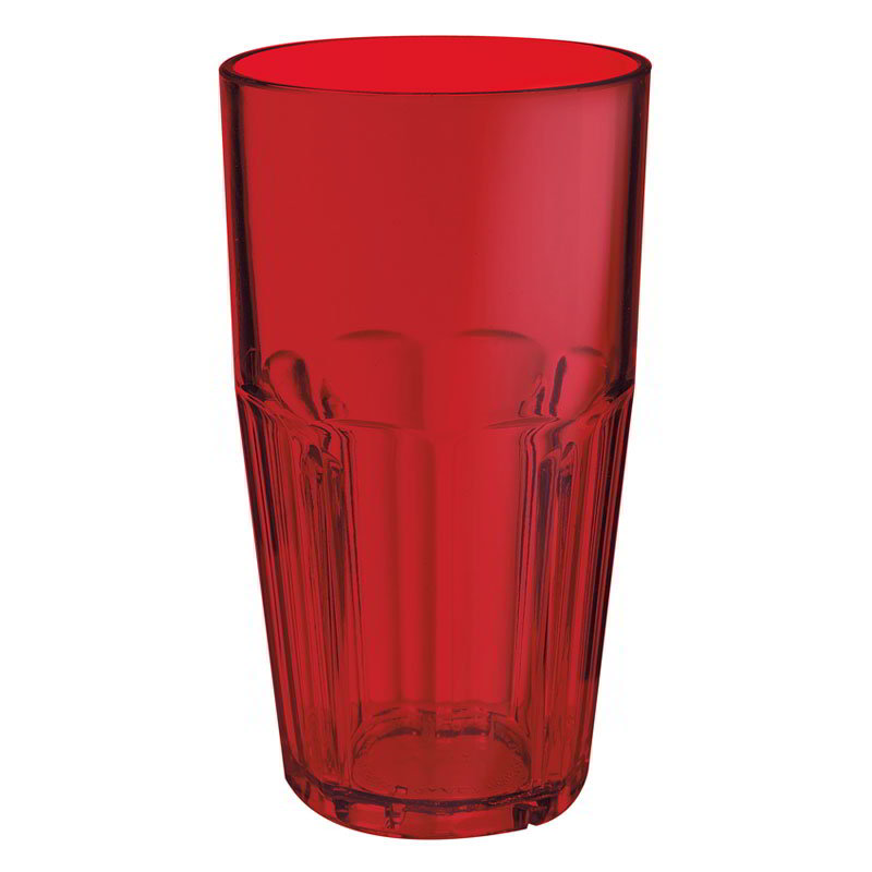 GET 9922-1-R 22-oz Bahama Cooler Stacking Plastic Tumbler, Red