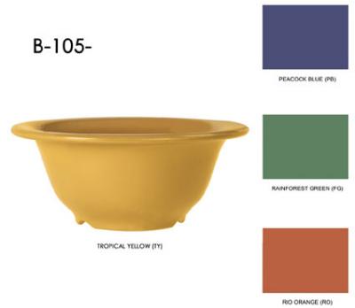 GET B-105-BK Bowl, 10-oz, 5-3/8 Diameter, Melamine, Black