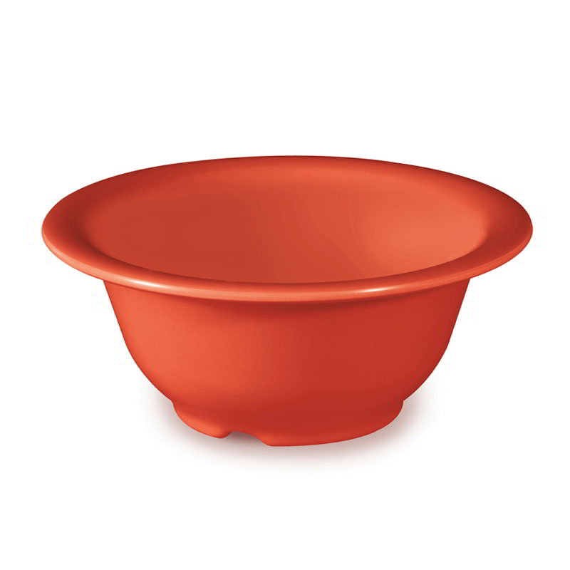 GET Enterprises B-105-RO 10 oz Bowl 5-3/8 in Melamine Rio Orange Restaurant Supply