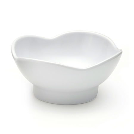 GET B-129-W 3-oz Round Sauce Or Side Dish w/ Scallop Edges, Melamine, White