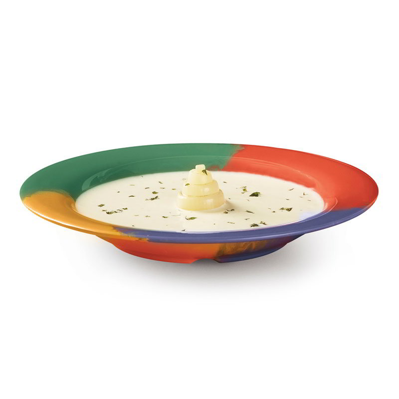"GET B-139-CE 13-oz Pasta/Salad Plastic Bowl, 9-1/4"" Celebration"