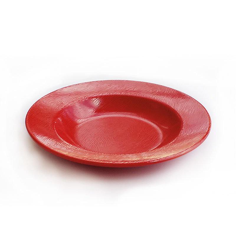 """GET B-1609-EW-R 16-oz Round Bowl - 1.75"""" Deep, Melamine, Textured Red"""