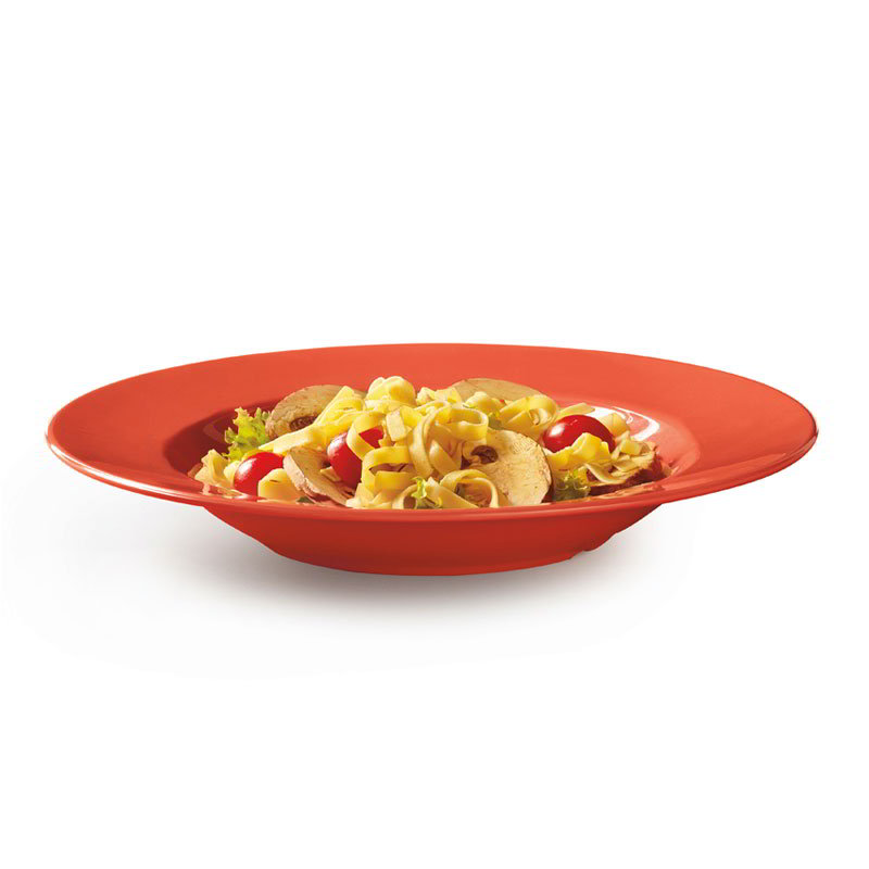 "GET B-1611-RO 16-oz Pasta/Salad Plastic Bowl, 11"" Rio Orange"