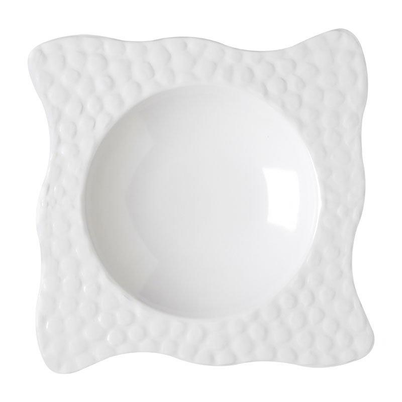 "GET B-1615-W 12.25"" Square Pasta Bowl w/ 24-oz Capacity, Melamine, White"