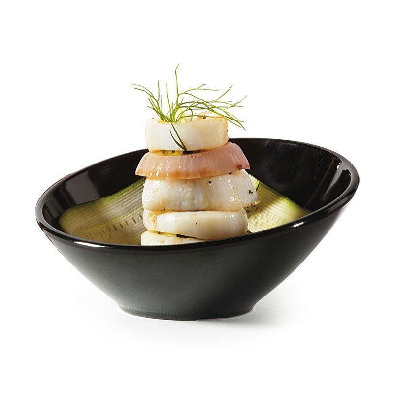 GET B-784-BK 5.5-oz Petite Cascading Melamine Bowl, Black Elegance