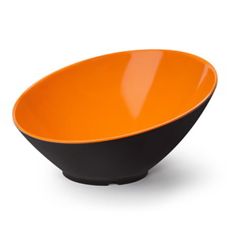 GET B-789-OR/BK 1.1-qt Brasilia Cascading Melamine Bowl, Orange & Black