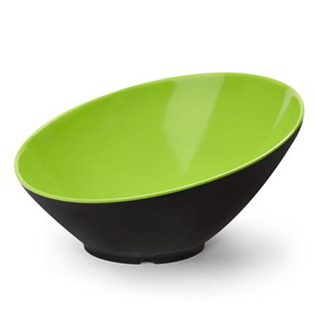 GET B-790-G/BK 1.9-qt Brasilia Cascading Melamine Bowl, Green & Black