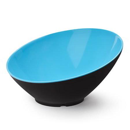 GET B-792-BL/BK 24-oz Brasilia Cascading Melamine Bowl, Blue & Black