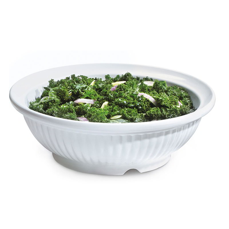 "GET B-796-W 15"" Round Serving Bowl w/ 6-qt Capacity, Melamine, White"