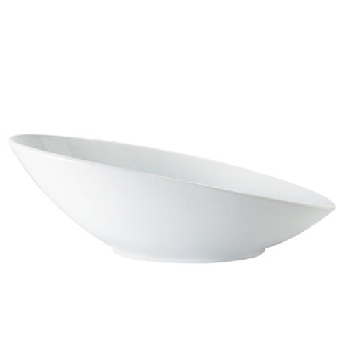"GET B-797-W Oval Fruit Bowl w/ 1.1-qt Capacity, 14"" x 8.75"" x 5"", Melamine, White"