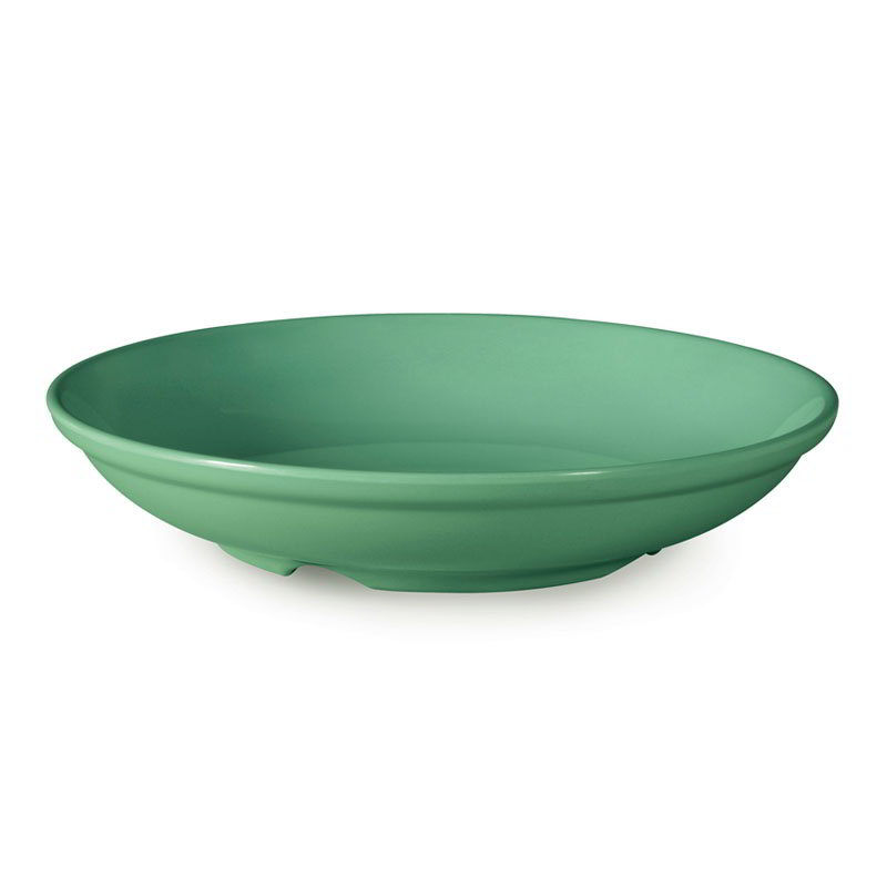 "GET B-925-FG 38-oz Salad/Pasta Plastic Bowl, 9"" Rainforest Green"
