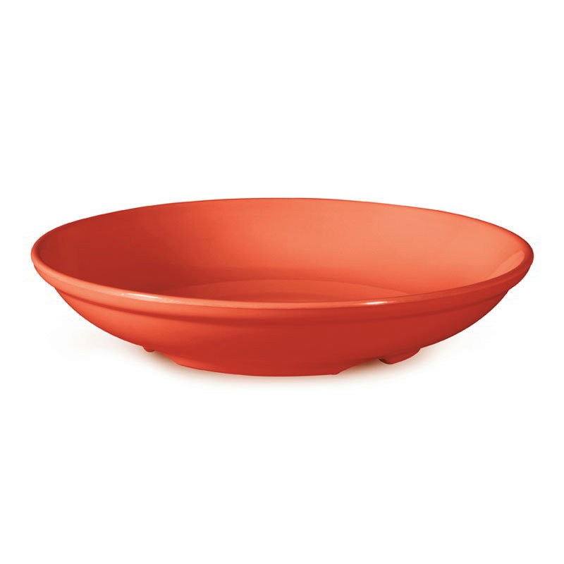 "GET B-925-RO 38-oz Salad/Pasta Plastic Bowl, 9"" Rio Orange"