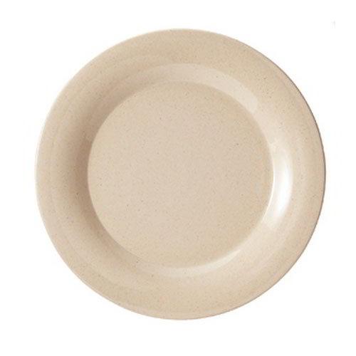 "GET BAM-1010 10-1/2""BambooMel Wide Rim Plastic Plate, Break Resistant, NSF"