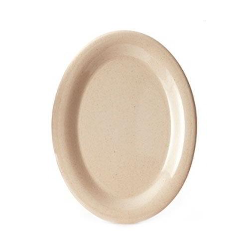 """GET BAM-1201 BambooMel Oval Plastic Platter, 12 x 9"""" Break Resistant, NSF"""