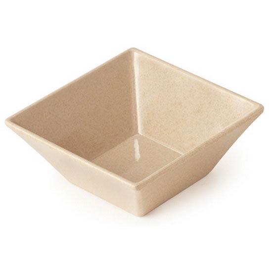 """GET BAM-1238 5"""" Square Salad Bowl w/ 14-oz Capacity, Melamine, Beige"""