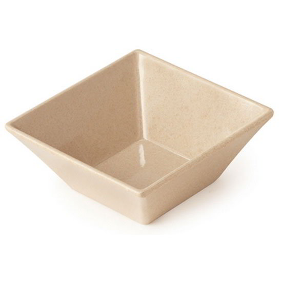 "GET BAM-1238 5"" Square BambooMel Plastic Bowl w/ 14-oz Capacity"
