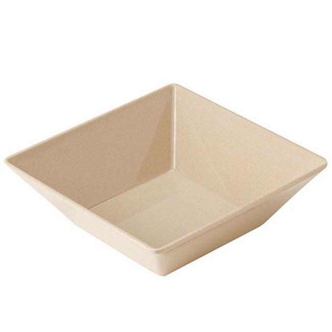 "Get BAM-1246 8"" Square BambooMel Plastic Bowl w/ 1.6-qt Capacity"