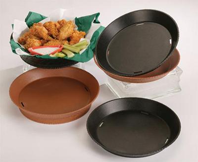 "GET RB-891-BK 11-7/8"" Plastic Basket, Round, Black"