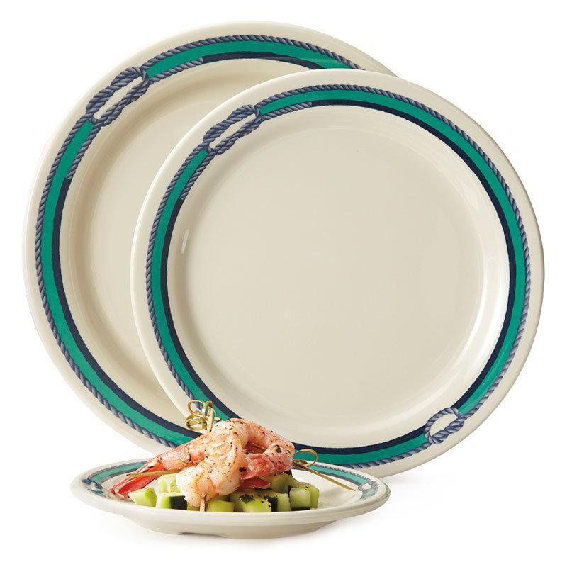 "GET BF-060-FP 6-1/4""Bread/Dessert Plastic Plate, Centennial Freeport"