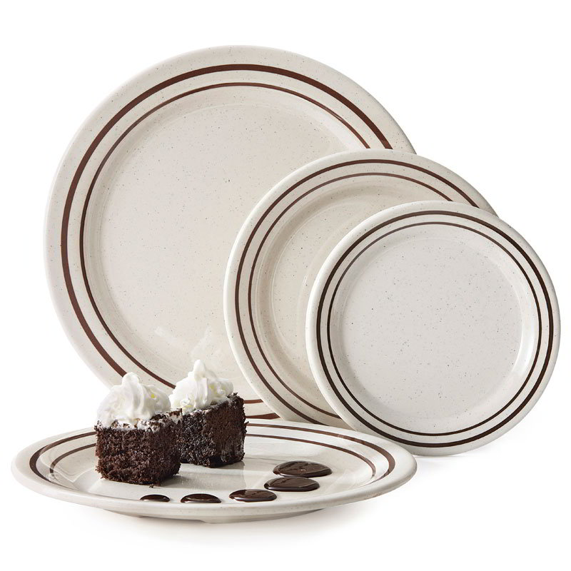 "GET BF-060-U 6-1/4""Bread/Dessert Plate, Melamine"