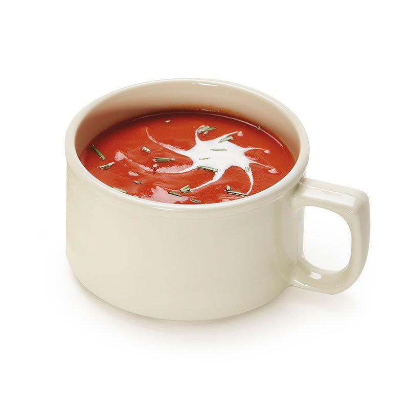 "GET BF-080-IV 4"" Bake & Brew Melamine Soup Mug w/ 11-oz Capacity, Ivory"