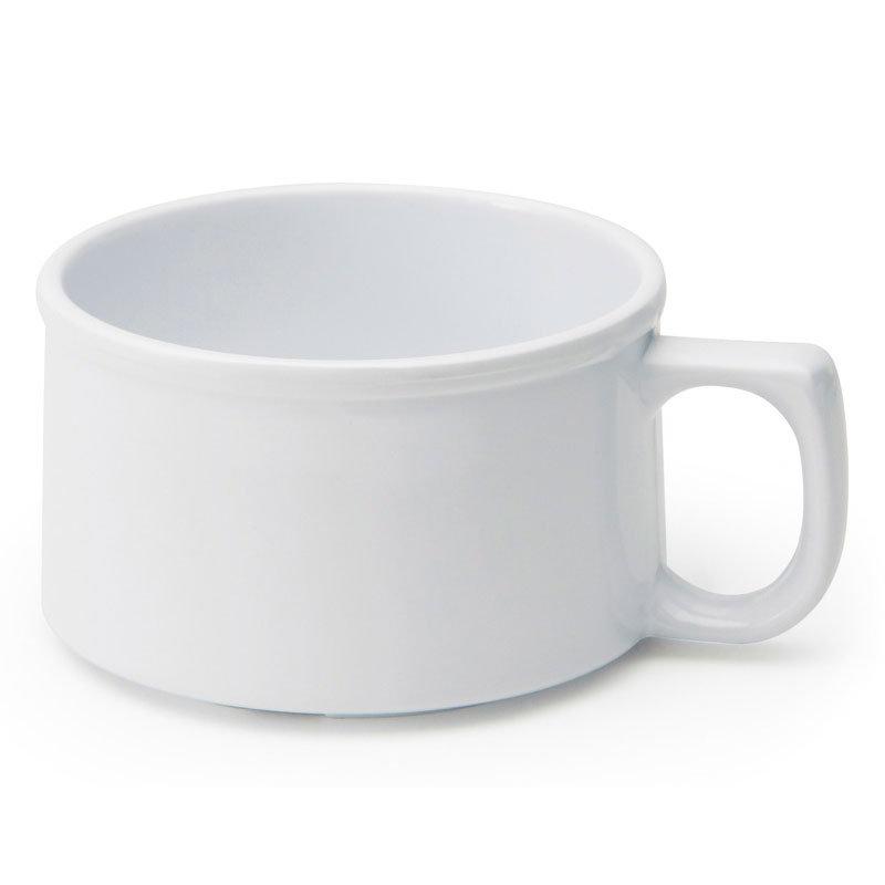 GET BF-080-W 11-oz Soup Mug, Melamine, White