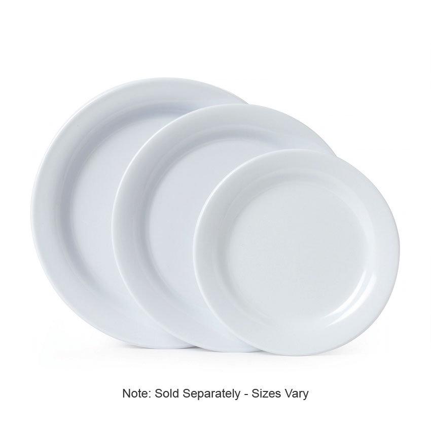 "GET BF-090-W 9"" Centuria Dinner Plate - Melamine, White"