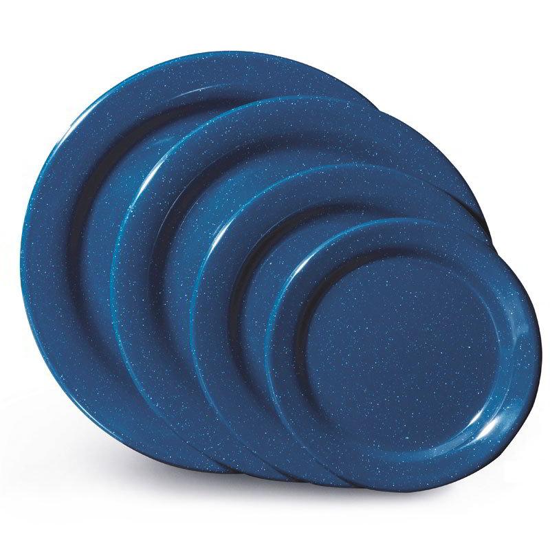 "GET BF-700-TB 7-1/4""Dessert Plastic Plate, Texas Blue"