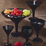 GET SW-1407-BK 10 oz Martini Glass, Black, SAN Plastic